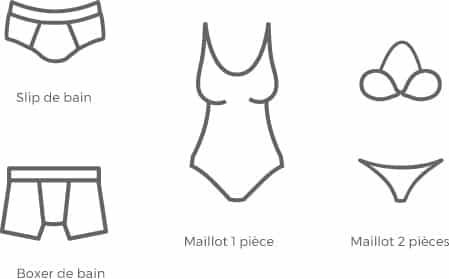 maillots de bain autorisés